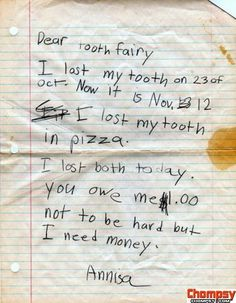 It's tough to be a tooth fairy
