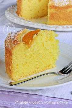 Here& sharing with you an easy to prepare, moist and delicious orange flavoured yoghurt cake which I made using my Bosch Maxomixx hand b. Peach Yogurt Cake, Peach Cake, Easy Cake Recipes, Baking Recipes, Orange Glaze Recipes, Peach Muffins, Cold Cake, Light Cakes, Home Baking