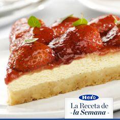 Pastel de Queso Coronado con Mermelada Original Sin Trozos Hero de Fresa #receta