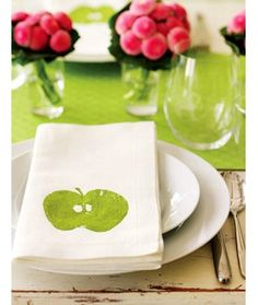 Try making these personalized napkins. How-to on the click through.