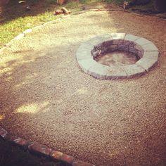 New east Nashville homeowners have a new fire pit to entertain around #nashville #landscaping www.PoplarSpringsLLC.com