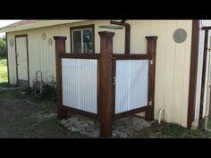Построение душ на открытом воздухе - YouTube