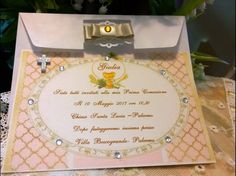 Invito Prima Comunione Ragazza con croce strass, by Hand Made Chic, 2,50 € su misshobby.com Frame, Home Decor, Rhinestones, Picture Frame, Decoration Home, Room Decor, Frames, Home Interior Design, Home Decoration