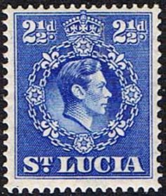 St Lucia 1938 King George VI SG 132 Fine Used SG 132 Scott 115a Other Postage Stamps Here