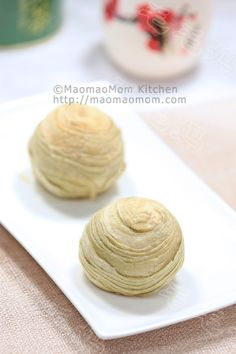 Puff pastry cake with mug bean filling 绿豆酥 | MaomaoMom Kitchen 毛毛妈厨房 Chinese people loves puff pastry cakes. This cake has light, flaky wrap and delicious mug bean filling, you got to try this.