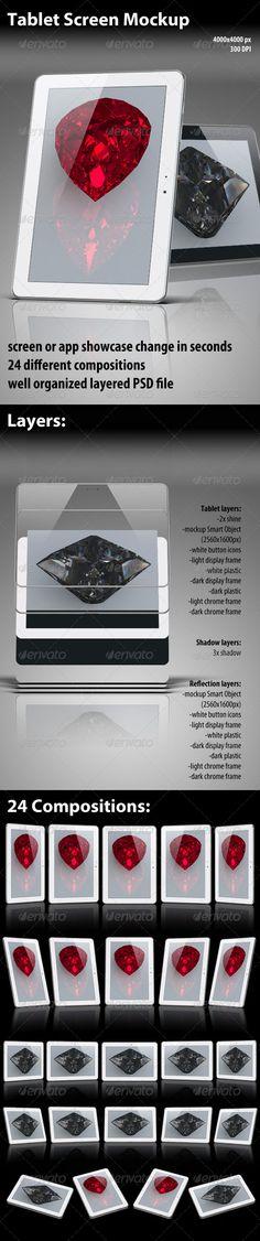 Shiny Tablet Mockup - Mobile Displays