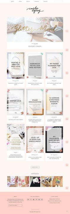 Caylee Grey's colorful and pink blog, running on Station Seven's Kindred theme. #wordpress #theme #design #girly #pink #webdesign