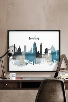 London print London skyline London cityscape by iPrintPoster