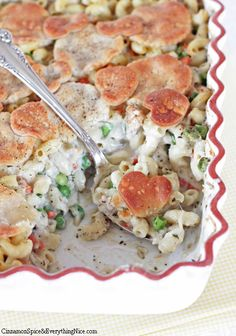 Baked Chicken Pot Pie Pasta | Cinnamon Spice & Everything Nice