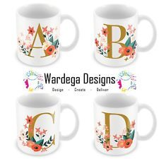 Custom personalised mug for any special occasion or just your very own favourite mug. Tea Mugs, Coffee Mugs, Alphabet Names, Name Letters, Floral Letters, Coffee Gifts, Sit Back And Relax, Personalized Mugs, Mug Cup
