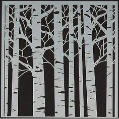 A tree stencil!