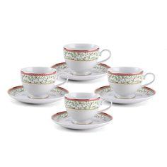 Teacups and Saucers, Set of 4