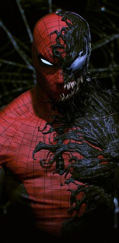Venom Spiderman, Black Spiderman, Spiderman Art, Amazing Spiderman, Superhero Wall Art, Superhero Poster, Marvel Wallpaper, Dark Wallpaper, Fullhd Wallpapers