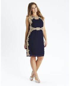 Embroidered Shift Dress at Simply Be
