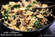 Snadný salát z bulguru, hub, fazolí a špenátu tak trošku jinak... Modern Food, Food Art, Meal Prep, Food And Drink, Low Carb, Rice, Vegetarian, Meals, Drinks