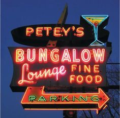 Petey's Bungalow Lounge Neon Sign