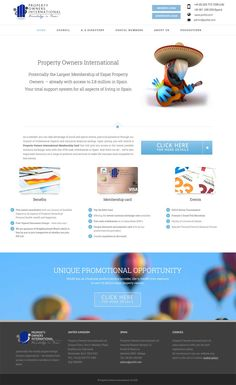 Property Owners International wordpress web site design marbella