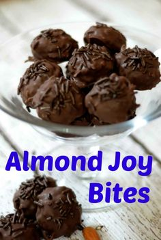 Day 9~12 Days of Christmas Candy Almond Joy Bites - Pink Cake Plate
