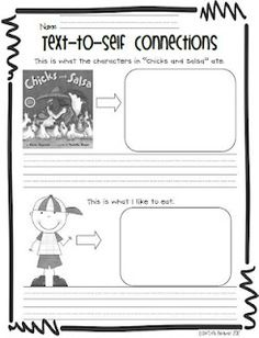 First Grade Fever!: Text to self intro. Kindergarten Language Arts, Teaching Language Arts, Kindergarten Reading, Teaching Reading, Guided Reading, Teaching Ideas, Shared Reading, Reading Club, Kindergarten Lessons