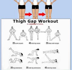 Inner Thigh Workout lose inner thigh fat women fitness home exercises fit femalefitbody wwwffbodycom Sport Fitness, Fitness Tips, Health Fitness, Fitness Shirts, Men Health, Muscle Fitness, Gain Muscle, Gym Fitness, Health Diet