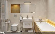 Ambrozja parterowy dom z nowoczesną elewacją i dużym tarasem - Jesteśmy AUTOREM - DOMY w Stylu Bathtub, Bathroom, Alcove Bathtub, Home