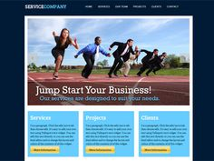 An easy to customize service business website template with rotating photo message gallery. Only on Talkspot.com