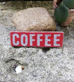 Items similar to Dollhouse Coffee sign - miniature wooden sign - coffe shop sign - handmade dollhouse accessory on Etsy Dollhouse Accessories, Coffee Signs, Shop Signs, Wooden Signs, Dollhouse Miniatures, Coffee Shop, Handmade Gifts, Etsy, Wooden Plaques