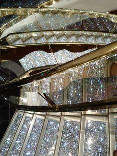 The Swarovski Staircase on board MSC Splendida - wow felt like I was on the titantic.