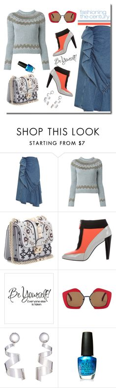 """Fashion Trends!"" by faten-m-h ❤ liked on Polyvore featuring J.W. Anderson, Valentino, Kenzo, Marni, OPI, denim, fashiontrends and polyvoreeditorial"