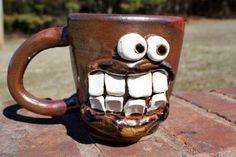 Funny mug! www.daily-art.com Hora Do Café, Creative Coffee, Creative Words, Creative Design, Coffee Break, Funny Cups, Coffee Cup Design, Coffee Cups, Cool Pictures
