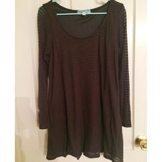 Gray Loose Sweater Dress Never worn & bought from Francesca's Collection. Comfortable material! Francesca's Collections Dresses