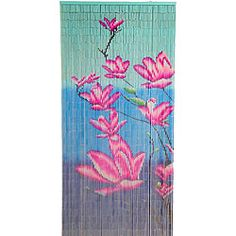 @Overstock - This beaded curtain is perfect for patios, porches, doorways, as room dividers, wall hangings, or even a tropical window. The painted bamboo curtain features a colorful design depicting pink flowers.http://www.overstock.com/Worldstock-Fair-Trade/Pink-Floral-Bamboo-Curtain-Vietnam/6772185/product.html?CID=214117 $39.99