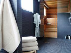 My bathroom/sauna... www.lily.fi/blogit/coco-sweet-dreams/ Finnish Sauna, Scandinavian Bathroom, Happy House, Bathroom Toilets, Sweet Dreams, Snapchat, Flooring, Lifestyle, Interior Design