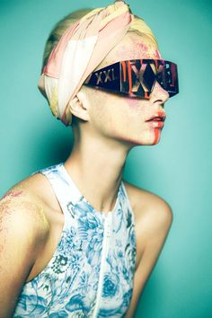 """Neon Deluxe""   Model: Alyona Subbotina, Photographer: Yossi Michaeli, Dazed & Confused Korea, March 2012"