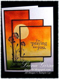 A La Cards: Triple Time with a Twist! Instructions included - another example of gorgeous multi-stamped cards