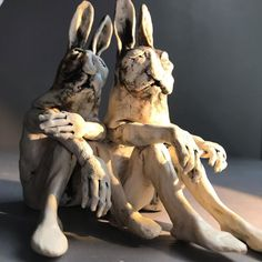 Rabbit rabbit ?? September 2019 - Artist: Aggie Zed www.aggiezed.com Rabbit Sculpture, Sculpture Art, Rabbit Art, Clay Art, Ceramic Art, Figurative, Ceramics, Statue, Artist