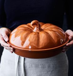 We don't mess around when we say #pumpkineverything. Gonna use this Pumpkin Covered Pie Dish all season long. Shop with the link in our Instagram profile and don't forget to share how you're cooking, baking and living with WS favorites using #mywilliamssonoma.