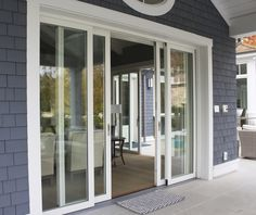 AG's Pocketing Lift and Slides are perfect for creating an indoor-outdoor space. Sliding Door Panels, Sliding Patio Doors, Sliding Glass Door, Family Room Addition, Patio Enclosures, New House Plans, Indoor Outdoor Living, Back Doors, Next At Home