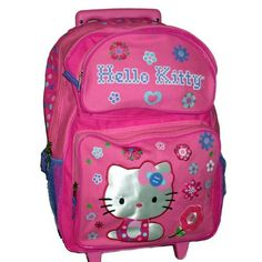 Black Friday Deal Hello Kitty Large Rolling Backpack Roller with Wheels from Classy Joint Cyber Monday