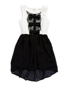 Brands | Dresses | Girls 7-16 Bow Front Chiffon Dress | Lord and Taylor