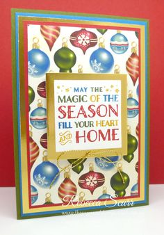 12 weeks of Christmas - Week 5 - Cozy Christmas, Home for Christmas DSP - Rebecca Scurr - Independent Stampin' Up! demonstrator - www.facebook.com/thepaperandstampaddict