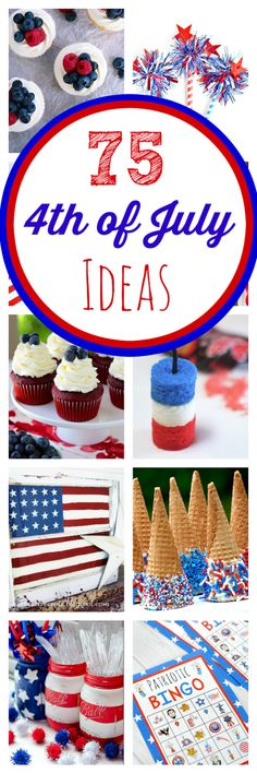 The Ultimate Guide to of July Party Ideas - Crazy Little Projects - TONS of great ideas for the of July! Crafts, games, food, decorations and more - 4th Of July Desserts, Fourth Of July Food, 4th Of July Celebration, 4th Of July Party, July 4th, Patriotic Crafts, Patriotic Party, July Crafts, Kid Crafts