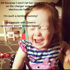 People with Down syndrome aren't 'always happy'