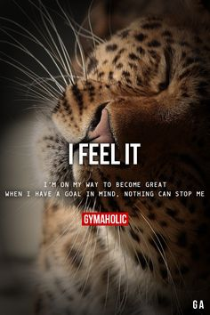 I Feel It I'm on my way to become great. When I have a goal in mind, nothing can stop me! More motivation -> http://www.gymaholic.co #fit #fitness #fitblr #fitspo #motivation #gym #gymaholic #workouts #nutrition #supplements #muscles #healthy
