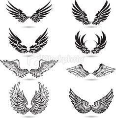 Wings Illustration Royalty Free Stock Vector Art Illustration: