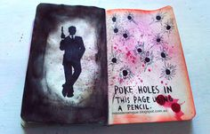 Wreck this Journal Poke holes in this page using a pencilYou can find Wreck this journal and more on our website.Wreck this Journal Poke holes in this page using a pencil Wreak This Journal Pages, Wreck This Journal Cover, Bullet Journal Ideas Pages, Journal Covers, Art Journal Pages, Kunstjournal Inspiration, Art Journal Inspiration, Journal Diary, My Journal