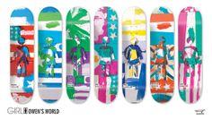 Girl Skateboard's Owen's World Series Decks