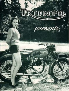 1950s advertisement for Triumph motorcycles.