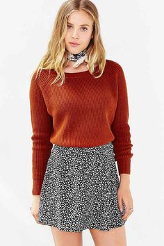 0821cc4b7c1b64 Kimchi Blue Off-Shoulder Cropped Sweater - Urban Outfitters