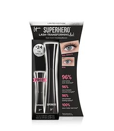 This limited-edition set includes a full size of your best-selling Superhero™ Mascara, plus a free bonus travel size to transform the look of your lashes on the go. Developed with plastic surgeons, the game-changing formula utilizes proprietary Elastic Stretch Technology to stretch the look of your lashes wider and longer—and creates the appearance of super volume, super length and super elastic stretch in just one coat!